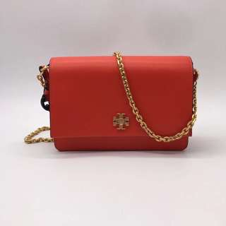 Tory Burch Kira Double Straps Shoulder Bag - red