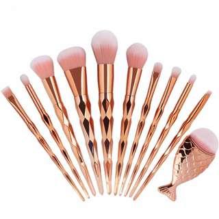 11pcs rosegold unicorn brush