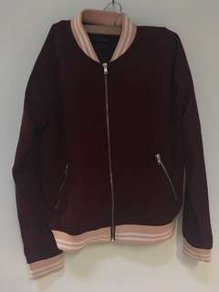 Cotton On Bomber Jacket - Maroon