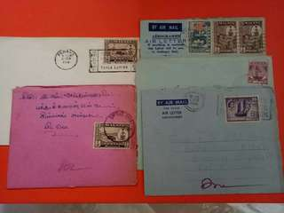 Old Used Envelopes With Stamp