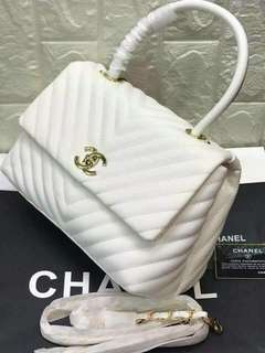 Authentic Chanel White Bag