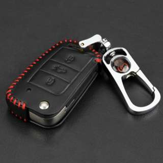 Volkswagen Touran Type C Car Key  Leather Pouch