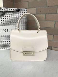 Furla Julia Top Handle- cream white