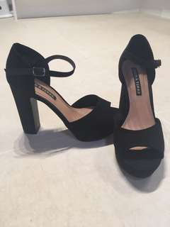 Black Mary Jane Heels