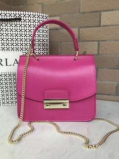 Furla Julia Top Handle - bright pink