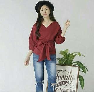 Blouse wanita prily blouse polos blouse kimono baju atasan kerja polos