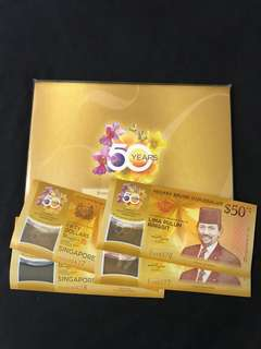 SG50 Commemorative Notes With 2 Run & Folder