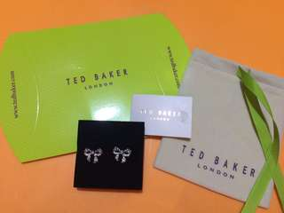Ted Baker Pave Crystal Small Bow Earrings