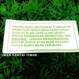 STICKER PARAS BUNYI RM6