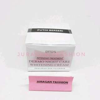 Krim Malam Ertos - Night cream ertos - Erto's Dermo Night Care Whitening Cream