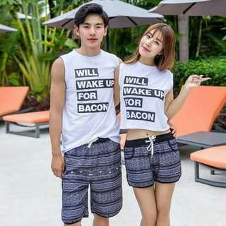 Summer couple shirt freesize both fit S to L