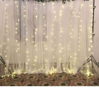 Setting up of Fairy Lights Photobooth