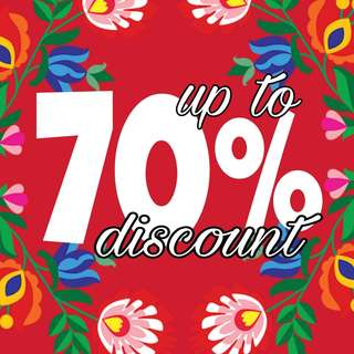 Up to 70% Discount.