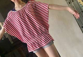 red striped hanging top