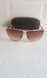 Oroton Aviator Sunglasses gold