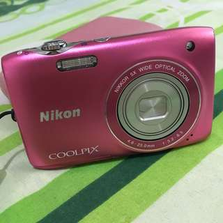 Nikon Coolpix Digicam Pink