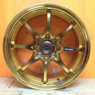 15inch SPORT RIM VOLK RACING CE28 WEIGHT SUPER GOLD WHEELS