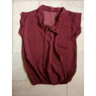 Polka Chiffon blouse