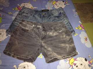 Maong shorts 2 for 50