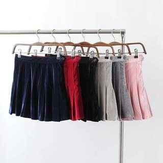 """""""Breeze"""" velvet tennis skirts - 6 colours"""