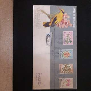 Singapore Airport Post Mark 1963 First Day Cover