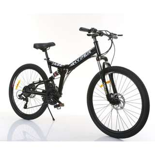 (Full Suspension Bike) Brand new 26 inch Foldable Mountain Bike, 21 Shimano gear/speed,Disk brakes etc.