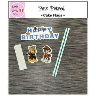Paw Patrol Cake Flags