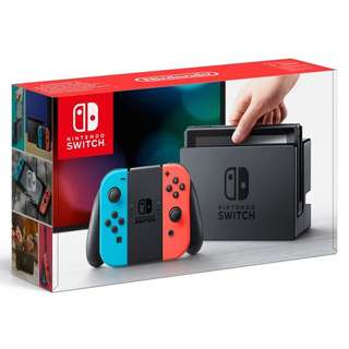 SALE BNIB LOCAL SET Nintendo Switch Console Neon Red / Blue