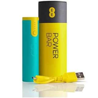 英國EE定制POWER BAR移動電源便攜超薄小巧手機充電寶帶LED手電筒