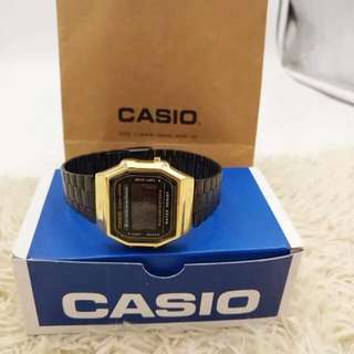 OEM Casio black and gold watch