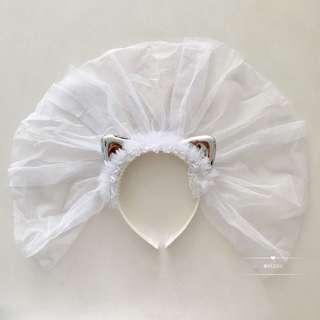 Children baby veil headband hairband headdress hair accessories wedding party birthday props flower girl