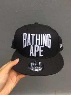 Topi Bape bathing ape Ori Snapback cap NYC Logo New era
