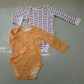 2pcs longsleeve baby onesies sale!!