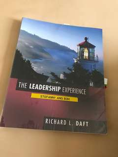 The leadership experience richard l. Daft