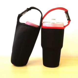 🚚 [現貨黑色]手提杯套 環保杯套 杯袋 手提/扣式提袋 冰霸杯/飲料杯/手搖杯 全新