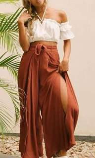 Boho pants with slit