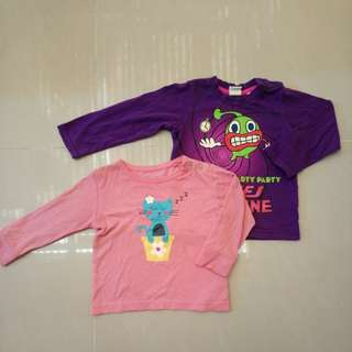 Tops for baby girl (2pcs for 100 only)