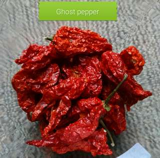 Dried Red ghost peppers 5gm