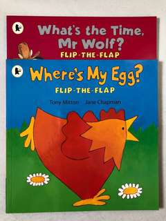 Flip-the-flap Where's My Egg? What's The Time, Mr Wolf?
