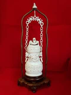 Hanging Ivory Vase