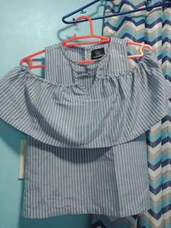 Plains and Prints cold shoulder blouse