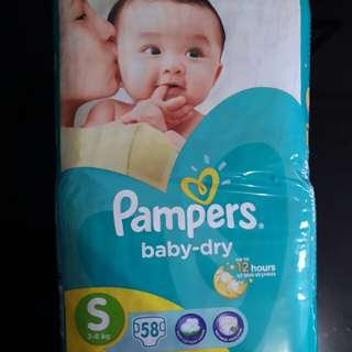 Repriced! (From P440) Pampers baby dry Small 58s