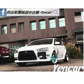 FB搜尋【阿彥嚴選認證車-Yencar】'14年Lancer IO 白 1.8L 、五門、爆龜、可全貸、中古車、二手車