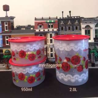 Tupperware Royal Rose One Touch 3pcs Set