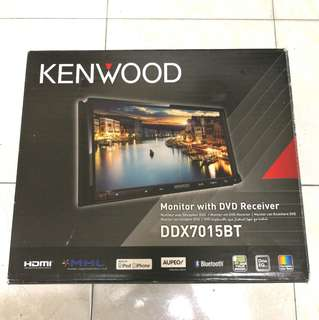 Kenwood DDX7015BT Double Din Car Player + Wireless MirrorLink Dongle