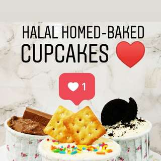 Halal homed-baked Cupcakes ♥️