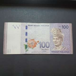 ZB1741558 REPLACEMENT BANKNOTE RM100