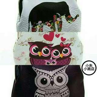 Womens Owl Coin Purse Clutch Handbag female leather wallet animal bags