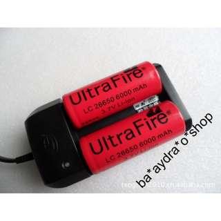 1629421 環高 雙槽 自停充電器 26650 和 18650鋰電池專用 Lithium battery charger