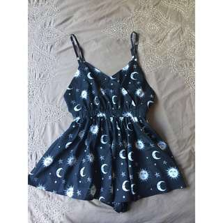 Sun and moon playsuit